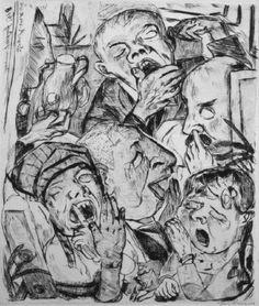 Max Beckmannn - The Yawners, 1918