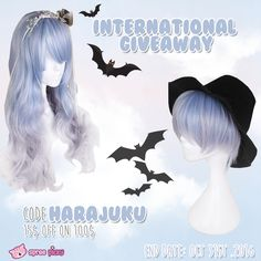 Join in our giveaway to have some fun. Giveaway for a Lolita wig ,2 lucky friends!  1. Follow @Spreepicky 2. Like and Repin this pic  3. Finish above and enter here: https://goo.gl/kN1V1H 4.Ends on Oct 31st .2016  Halloween Sale, Use code: Harajuku to enjoy 15$ off 100$  Good luck everyone <33