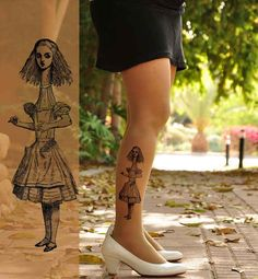 Alice Tattoo Tights | 37 Ways To Proudly Wear Your Love Of Books