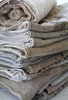 antique linens, grain sacks