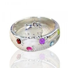 MADE IN JAPAN Hello Kitty wish good health amulet jewelry ring gifts F/S