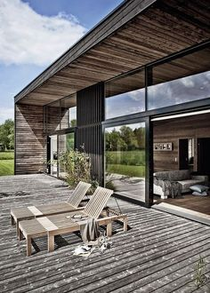 Best Ideas For Modern House Design : – Picture : – Description Wooden Summer House in Denmark by Kim Holst Architect House In Nature, House In The Woods, My House, Wooden Summer House, Casas Containers, Coastal Homes, Architectural Elements, Modern House Design, Architecture Details