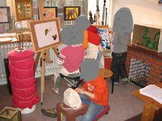 Werken in het kunstatelier. Nutsschool Maastricht