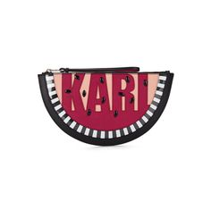 Karl Lagerfeld Women's K/Watermelon Clutch Bag - Black (1615 MAD) ❤ liked on Polyvore featuring bags, handbags, clutches, hand bags, studded purse, handbags purses, studded handbags and man bag