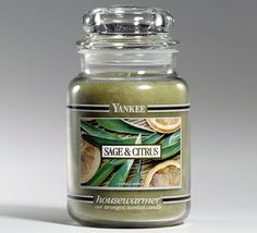 sage and citrus candle... my favorite Yankee candle