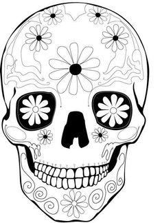 Sugar Skulls Coloring Pages | Printable Coloring Pages | Mandalas ...