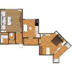 Квартира в Кухня, Семейная комната, Спальня, Гостиная, Ванная комната, Офис