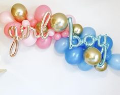 Gender Reveal Balloons, Baby Reveal Shower, Gender Reveal Party, Gender Reveal Shower, Reveal Party, He or She, What will it Be Party - - #partydecoration...
