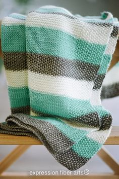 Unending Love Knitted Blanket Pattern - Expression Fiber Arts, Inc. Knitted Afghans, Knitted Baby Blankets, Baby Afghans, Crochet For Beginners Blanket, Crochet Blanket Patterns, Knitting Patterns, Easy Knitting, Knitting Yarn, Expression Fiber Arts