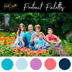 Did someone say summer! Here is an adorable color palette for your summer family session!