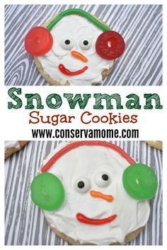 These fun and delicious snowman cookies will make everyone's heart melt! A fun treat to make as a classroom project or the perfect holiday dessert.