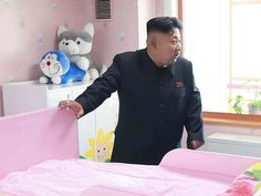 A photo of Kim Jong-un visiting an orphanage in North Korea reveals a hilarious and unexpected detail that was missed by photographers.