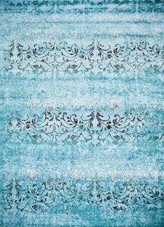 Blue Oriental Vintage Distressed Discount Area Rugs (5x8) (8x11) - Bargain Area Rugs