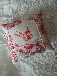 lavender sachet - antique French fabrics