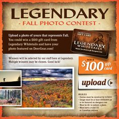 #Win $100 in #LegendaryWhitetails #Fall #Photo #Contest! Ends 11/30/13