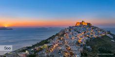 Sunrise at Astypalaia by PaulShark  Astypalaia astypalea castle chora dodecanese greece island morning nikon sunrise PaulShark