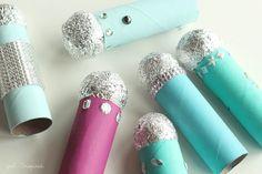 10 ideias criativas com papel alumínio - microfone
