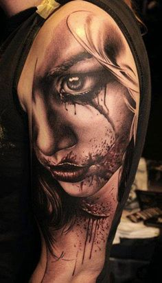 Realism Face Tattoo by Florian Karg - http://worldtattoosgallery.com/realism-face-tattoo-by-florian-karg-6/