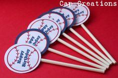 printable Baseball Cupcake Toppers