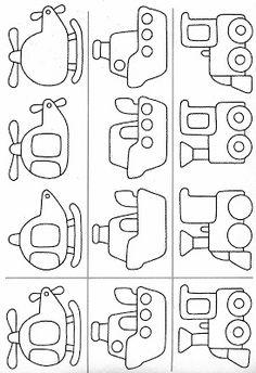 meAtividades com: FIGURA FUNDO, COMPLETAR A FIGURA e COMPLETAR A SEQUÊNCIA.educação infantil,anos iniciais,coordenação motora finaios de transporte, Art Drawings For Kids, Drawing For Kids, Easy Drawings, Art For Kids, Applique Templates, Applique Patterns, Book Activities, Preschool Activities, Colouring Pages