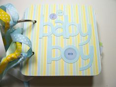 Baby Boy Premade Mini Scrapbook Album Baby Boy by HampshireRose, $25.00
