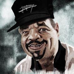 Ice T Caricature