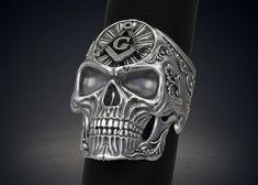 Masonic Skull Ring Freemasons Ring STL 3d model for 3d printing   3D Print Model