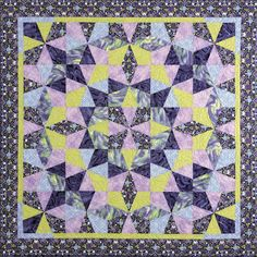 Kaleidoscope Puzzle Quilts Pattern DFQ-105 (advanced beginner, lap and throw)