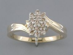 '0.30CT Genuine Diamond Pure 14K Gold Ring' is going up for auction at  3pm Thu, Nov 1 with a starting bid of $1.