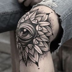 Leg tattoos is a great choice and idea for both men and women. Discover a timeless selection of the top 100 best badass tattoos for men and women. Dope Tattoos, Tattoos For Guys Badass, Elbow Tattoos, Tribal Tattoos, Tattoo For Man, Mens Leg Tattoo, All Seeing Eye Tattoo, Hand Tattoos For Women, Sharpie Tattoos