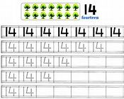 Worksheet on Number 14 | Free Printable Worksheet on Number 14