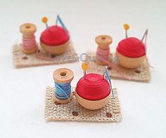 Quilling miniature...seamstress クイリングミニチュア お針子