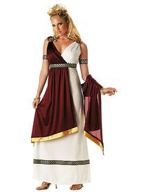 Römische Kaiserin Griechische Göttin Toga Gewand Damen Kostüm