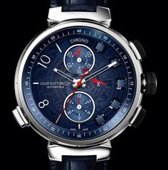The Tambour Spin Time in chronograph mode by Louis Vuitton #BaselWorld2012