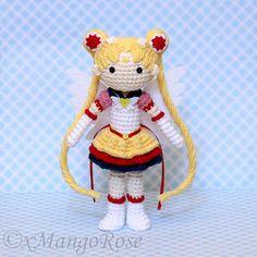Eternal Sailor Moon Plush Amigurumi Doll Crochet by xMangoRose $7.99
