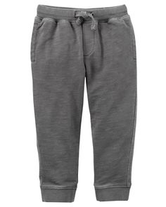 Kid Boy Pull-On French Terry Joggers | Carters.com