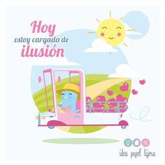 ilustración, dibujo, pollito, idea papel tijera, camioneta, ilusión