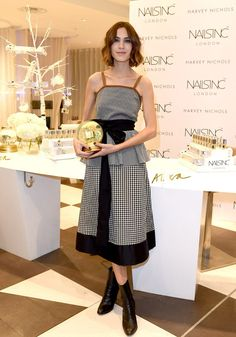 Alexa Chung - Promoting her latest collection for Nails Inc at Liverpool's Harvey Nichols department store. (10 November 2015)