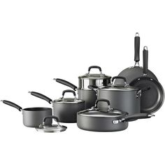 "Tramontina Hard Anodized Cookware Set, Tramontina Cookware Set, Gourmet 12-Piece Cookware Set ""Good"" Quality Doesn't Have to be Expensive!"