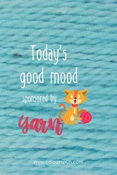 Let yarn enhance your mood Fabric Yarn, Good Mood, Fabric Design, Weaving, Quilts, Stitch, Knitting, Crochet, Full Stop
