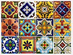 Amazon.com   SnazzyDecal Wall Tile Decal Stickers Mexican Mix 4x4in Peel  And Stick For