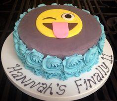 Emoticon birthday cake