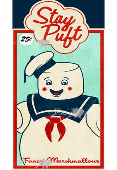 Ghostbusters - Stay Puft Marshmallow Man - Digital Art Poster