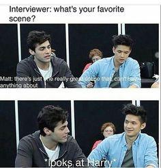 I feel like Matt is slightly gay for Harry