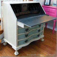 painted secretary desk