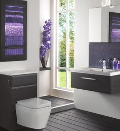 #Purple #Bathroom  Eco Bathrooms Modular furniture, available from UK Bathrooms. Just drop us an email for a quote:  sales@ukbathrooms.com