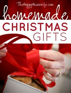 TONS of homemade Christmas gift tutorials!  Check back often - they're being added to every day!
