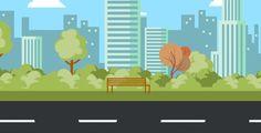 Cartoon City Road by mediagiraffe Scenery Background, Street Background, Cartoon Background, Animation Background, Happy Cartoon, Cartoon Gifs, Animated Cartoons, Animation Walk Cycle, Powerpoint Animation