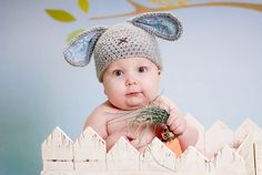 crocheted bunny hat pattern! adorable!!!!! :):)