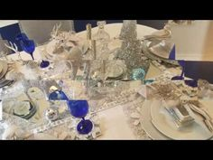 Christmas Table Scape: Winter Wonderland 2016 DOLLAR TREE ITEMS - YouTube